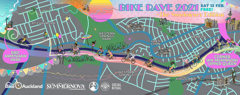 Bike Rave Sundowner Edition map
