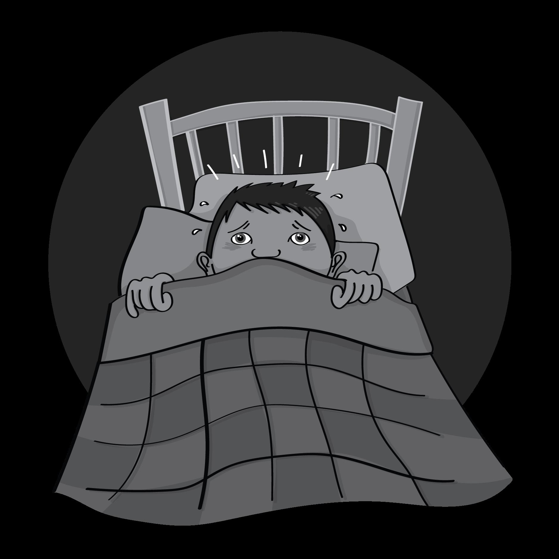 Noah having a bad dream