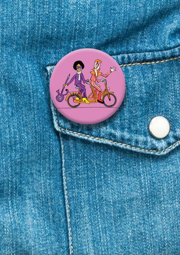 Prince & Bowie badge