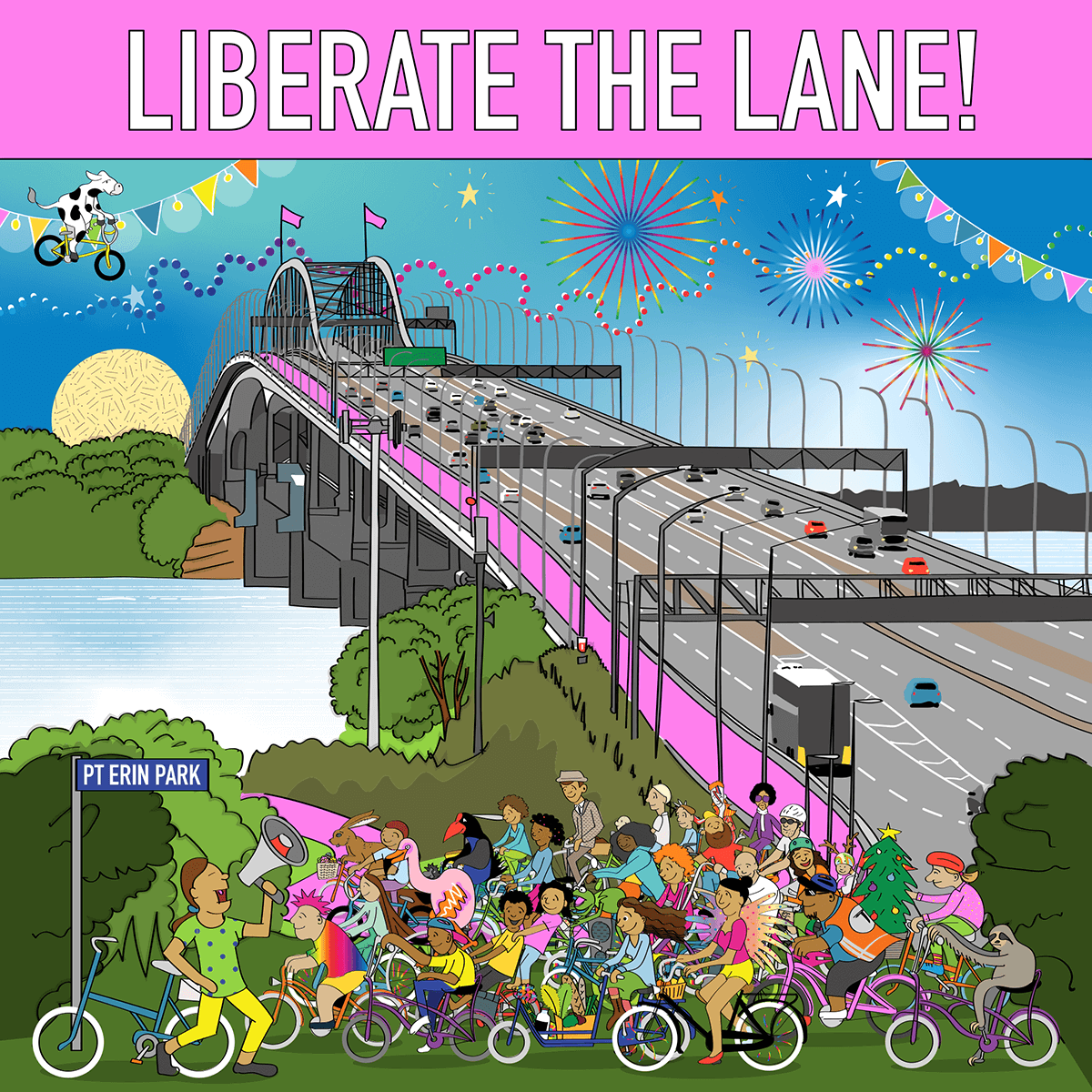 Liberate the Lane poster