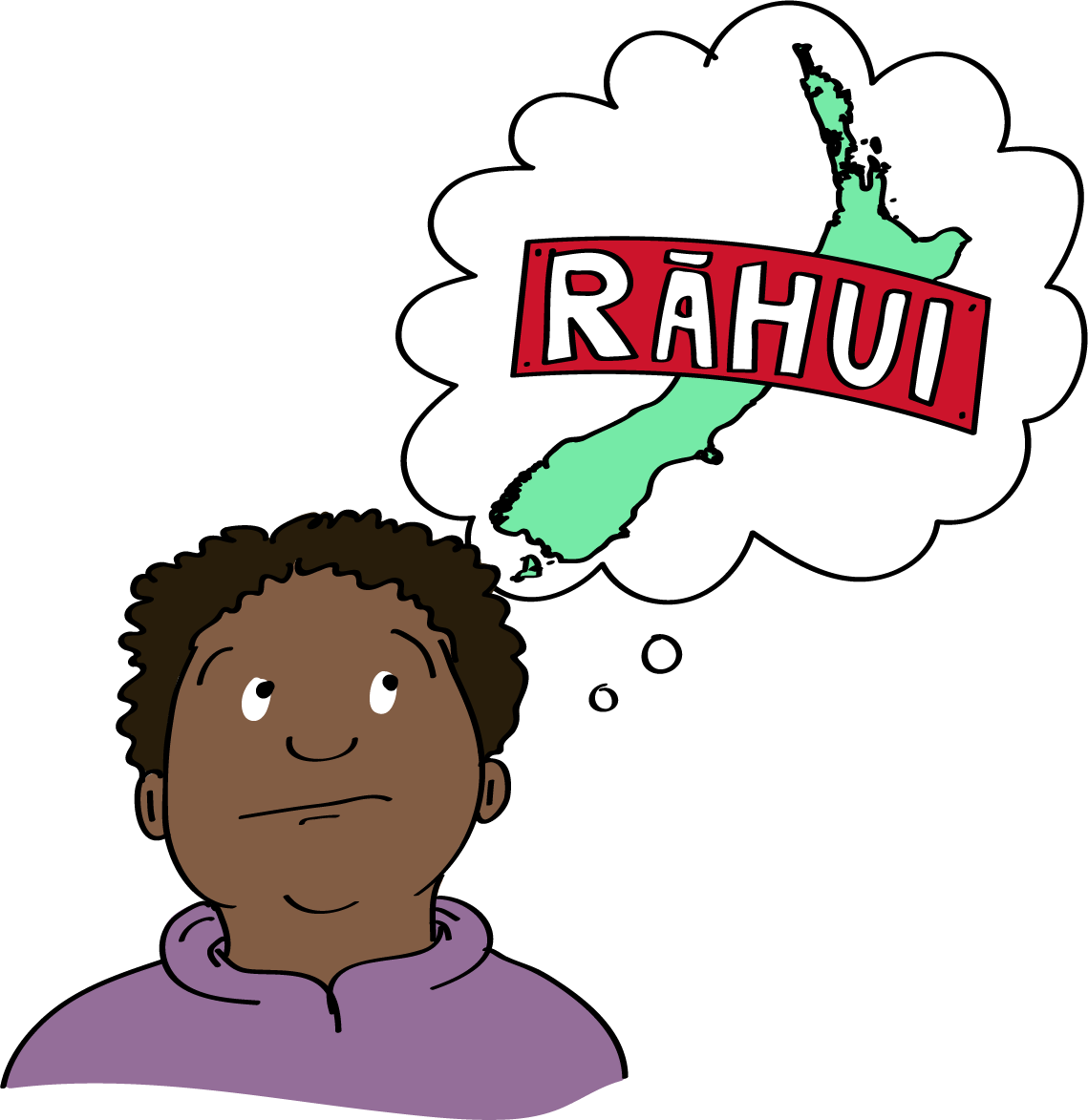 "Person imaging NZ with a ""Rāhui"" label across it"
